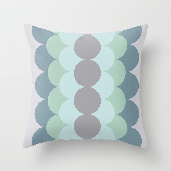 Gradual Mint Throw Pillow