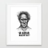 clint eastwood Framed Art Prints featuring CLINT EASTWOOD  by Ani Dvaladze