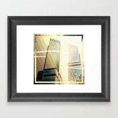 Flirting Sunset Framed Art Print