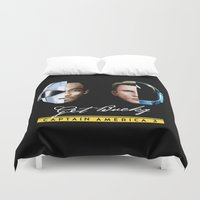 bucky Duvet Covers featuring Up All Night to Get Bucky by robin
