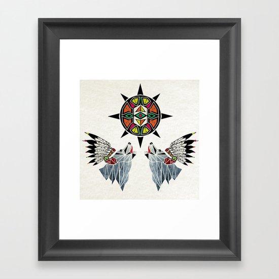 wolf king Framed Art Print