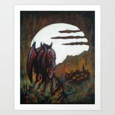 The Demons Crest Art Print