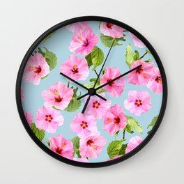 Ibiscus Dance Wall Clock