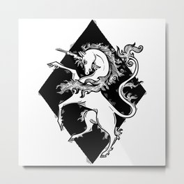 unicorn coat of arms Metal Print