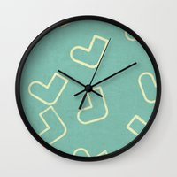 socks Wall Clocks featuring Socks by sinonelineman