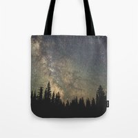 milky way Tote Bags featuring Milky Way by Luke Gram