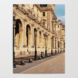 Louvre Museum Courtyard Paris Poster