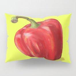 Red Paprika on Yellow Pillow Sham