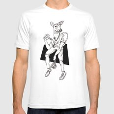 Deer Mens Fitted Tee SMALL White