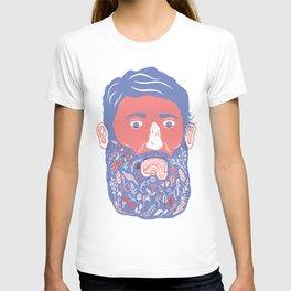 Flowers in Beard T-shirt