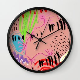 Hello blank Wall Clock