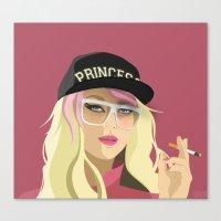 princess peach Canvas Prints featuring Princess Peach  by DigitalSlave