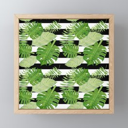 Tropical Leaf Mix III Framed Mini Art Print
