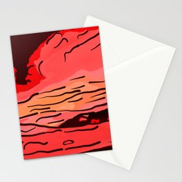 abstract style aurora borealis absdr Stationery Cards
