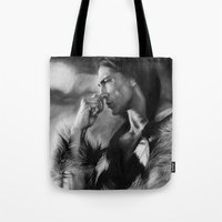 native american Tote Bags featuring Native American  by Thubakabra