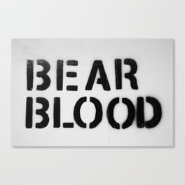 BearBlood logo Canvas Print