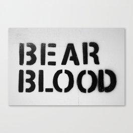 BearBlood logo Canvas Print