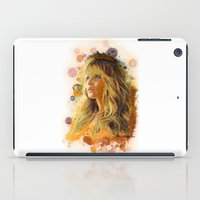 jennifer lawrence iPad Cases featuring Jennifer Lawrence II by Rene Alberto