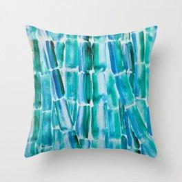 Classic Blue Sugarcane Throw Pillow