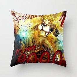 Vegeta Over 9000! Throw Pillow