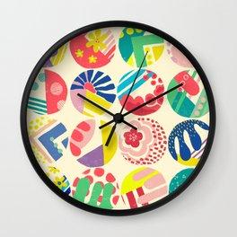Abstract circle fun pattern Wall Clock