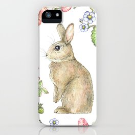 Floral Bunny iPhone Case
