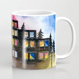 Christmas Building Painting Coffee Mug