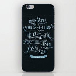 The Responsibility Prayer iPhone Skin