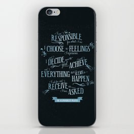 The Responsibility Prayer iPhone Skin