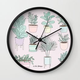 House Plants Guide Wall Clock