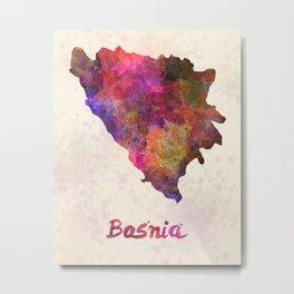 Bosnia in watercolor Metal Print