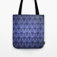 haunted mansion Tote Bags featuring Beauty Haunted Mansion Wallpaper Stretching Room by ThreeBoys