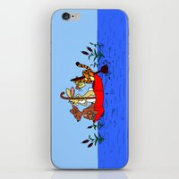 tigger iPhone & iPod Skins featuring Floating umbrella by BlackBlizzard