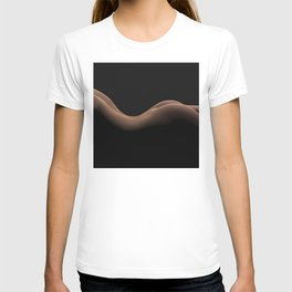Curvy Nude Female Back and Bottom T-shirt