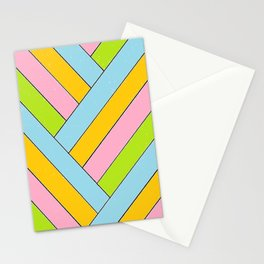 Spring Stripes Stationery Cards