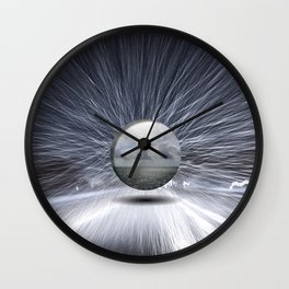 Snow and ocean by Guido Prussia Wall Clock