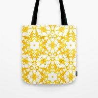 batik Tote Bags featuring batik floral by clemm