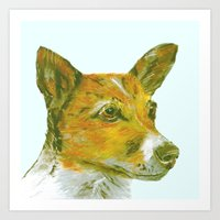 Jack Russell printed from an original painting by Jiri Bures Art Print