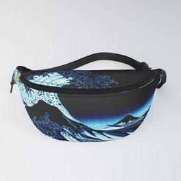 the Great Wave Blue Fanny Pack