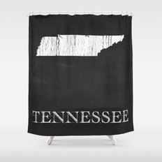 Tennessee State Map Chalk Drawing Shower Curtain
