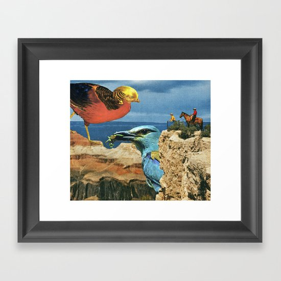 Ornithophobia Framed Art Print