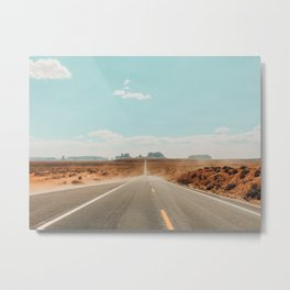 Road to Monument Valley, Navajo County, Arizona Metal Print