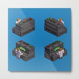 Science — isometric pixel art Metal Print