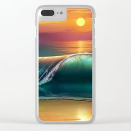 Sunset Art Canvas Clear iPhone Case