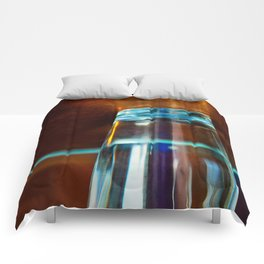 Abstract Colors Through Glass Comforters