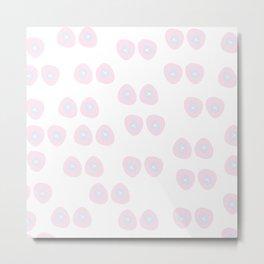 pink cancer Metal Print