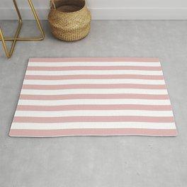 Stripes - rose pink Rug