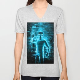 Virtual Reality User Unisex V-Neck