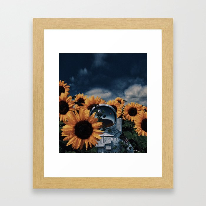 i'm just a passenger here. Framed Art Print