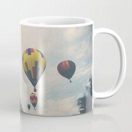 hot air balloons floating away ... Coffee Mug